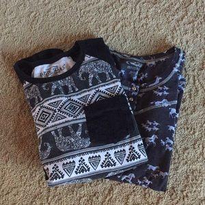 Tops - 2 long sleeve T-shirt